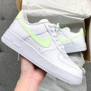 🤍💛 Nike Air Force 1 white neon shoes